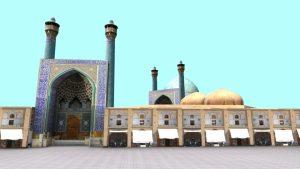 مدل سه بعدی میدان نقش جهان اصفهان