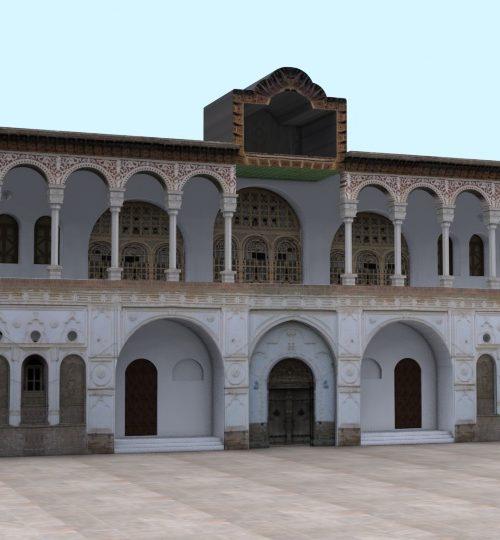 مدل سه بعدی عمارت خسروآباد همراه با تکسچر