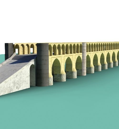 مدل سه بعدی سی و سه پل اصفهان همراه با تکسچر