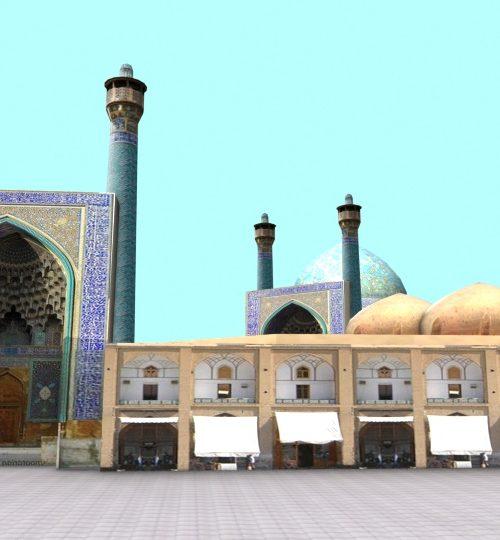 مدل سه بعدی میدان نقش جهان اصفهان همراه با تکسچر