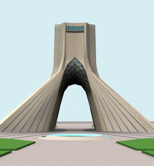 مدل سه بعدی برج میدان آزادی تهران همراه با تکسچر