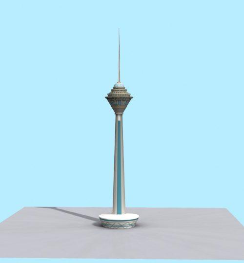 مدل سه بعدی برج میلاد همراه با تکسچر
