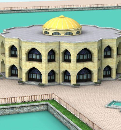مدل سه بعدی عمارت ایل گلی همراه با تکسچر