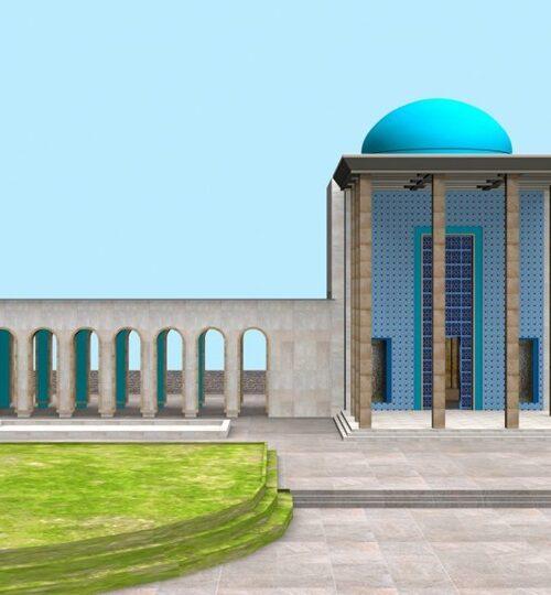 مدل سه بعدی آرامگاه سعدی همراه با تکسچر