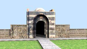 مدل سه بعدی دروازه سنگی ارومیه