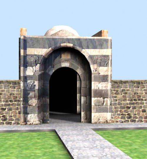 مدل سه بعدی دروازه سنگی ارومیه همراه با تکسچر