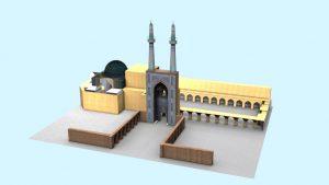 مدل سه بعدی مسجد جامع یزد
