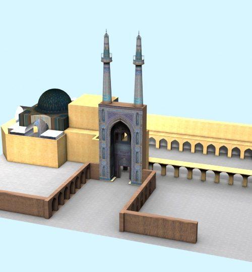 مدل سه بعدی مسجد جامع یزد همراه با تکسچر