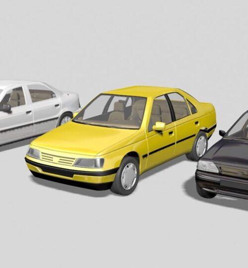 مدل سه بعدی ماشین های ایرانی – فرمت max